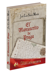 Portada del libro El manuscrito de Praga de José Luis Sáenz-Messía. Editorial Adarve, Editoriales que aceptan manuscritos