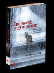 Portada del libro Está lloviendo coge un paraguas de Martina Fiore. Editorial Adarve, Editoriales de España