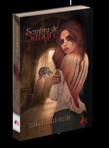 Portada del libro Sombra de sangre de Clara Barceló Sellés. Editorial Adarve, Editoriales de España