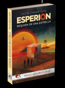 Portada del libro Esperion Réquiem por una estrella de Óscar Lorente Espín. Editorial Adarve, Publicar un libro