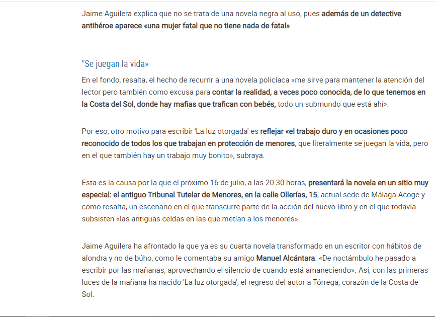 Jaime Aguilera. Editorial Adarve