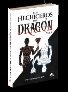 Portada del libro Los hechiceros del dragón de Santiago Matías López. Editorial Adarve, Editoriales de España