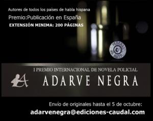 Cartel Premio Novela Negra Editorial Adarve