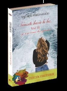 Portada del libro Tránsito hacia la luz volumen II  de Encarni Pérez. Editorial Adarve, Editoriales de España