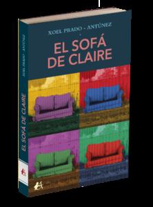 Portada del libro El sofá de Claire de Xoel Prado-Antúnez. Editorial Adarve, Editoriales de España