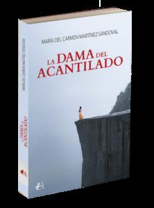 Portada del libro La dama del acantilado de María del Carmen Martínez Sandoval. Editorial Adarve. Editoriales de España