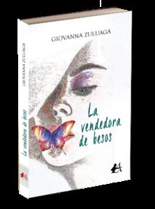 Portada del libro La vendedora de besos de Giovanna Zuluaga. Editorial Adarve, Editoriales de España