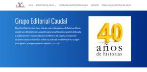 Nueva web del Grupo Editorial Caudal