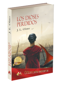 Portada de Los dioses perdidos de J. L. Olmo. Editorial Adarve. Colección Imperium. Publicar un libro