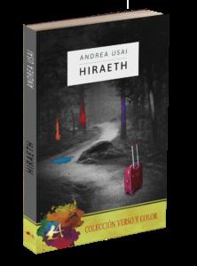Portada del libro Hiraeth de Andrea Usai. Editorial Adarve. Colección Verso y color.