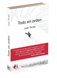 Portada del libro Todo en orden de Juan Torres. Editorial Adarve, publicar un libro