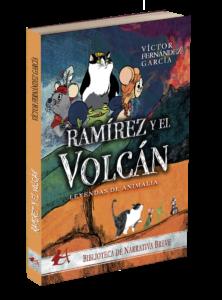 Portada del libro Ramírez y el volcán Leyendas de animalia. Editorial Adarve, publicar un libro