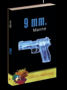 Portada del libro 9mm de Manne. Editorial Adarve, publicar un libro