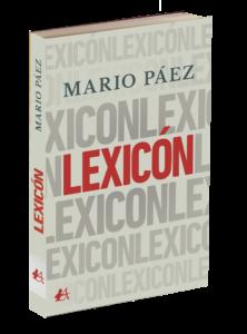 Portada del libro Lexicón de Mario Páez. Editorial Adarve, publicar un libro