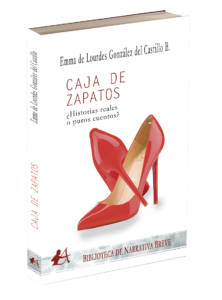 Portada del libro Caja de zapatos. Editorial Adarve, colección Biblioteca de Narrativa Breve. Editoriales de España