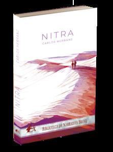 Portada del libro Nitra. Editorial Adarve, colección Biblioteca de Narrativa Breve, editoriales de España