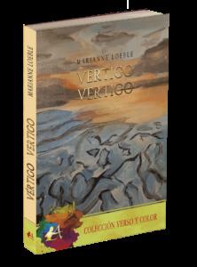 Portada del libro Vértigo. Poemario bilingüe. Editorial Adarve, colección Verso y color. Editoriales que aceptan manuscritos